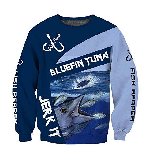 Fashion Bluefin Tuna Fishing 3D Printed Men Hoodies Retro Harajuku Hooded Sweatshirt Autumn Casual Hoodie Fashion Tops-B_4XL