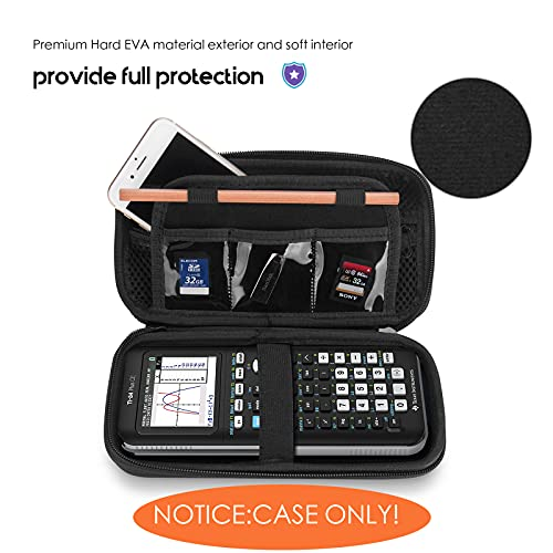 ProCase Hard EVA Case for Texas Instruments Ti-84 Plus CE, Durable Travel Storage Carrying Box Protective Bag for Ti-84 Ti-83 Ti-85 Ti-89 Ti-82 Plus/C CE Graphing Calculator and More –Black Photo #7