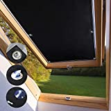 KINLO Techo Solar Persiana Cortina Aislamiento Térmico Protector Solar Apagón para Claraboya Ventanilla del Coche Protección UV con Ventosa sin Perforación o Pegamento 06 y 206-48 x 93cm - Negro