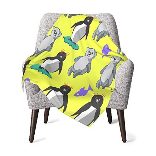 WGYWE Osos y manta de bebé ultra suave sofá cama manta personalizada impresión silla cubiertas