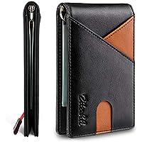 Zitahli Money Clip slim Front Pocket Mens Wallets (Black and Brown)