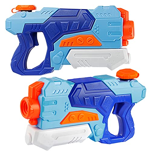 D-FantiX Water Guns for Kids, 2 Pack Super Water Blaster Soaker Squirt Guns 550CC High Capacity Long Range Summer Swimming Pool Beach Party Favors Water Fighting Play Toys for Kids Adults Boy Girl