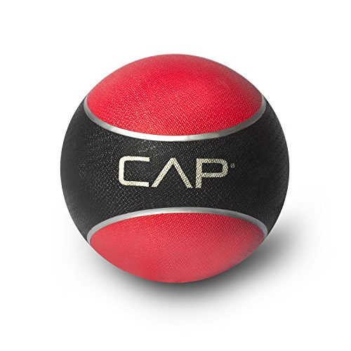 CAP Barbell Rubber Medicine Ball, 10-Pound, Red