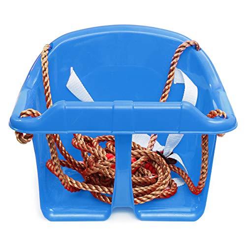 ZHANGNING Hamaca con mosquitera Sillón de Giro Ajustable para niños Sillón de Hamaca portátil al Aire Libre Hamaca aérea de Camping (Color : Blue)