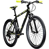 Galano Mountainbike Hardtail 26 Zoll Path MTB Fahrrad 21 Gang Mountain Bike 26' (schwarz/grün, 46 cm)