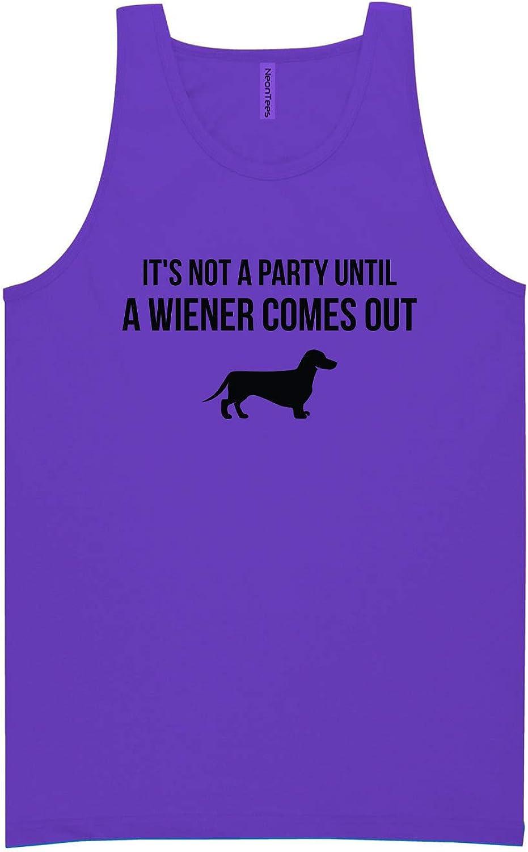 It's Not A Party Until A Wiener Neon Purple Tank Top - XX-Large
