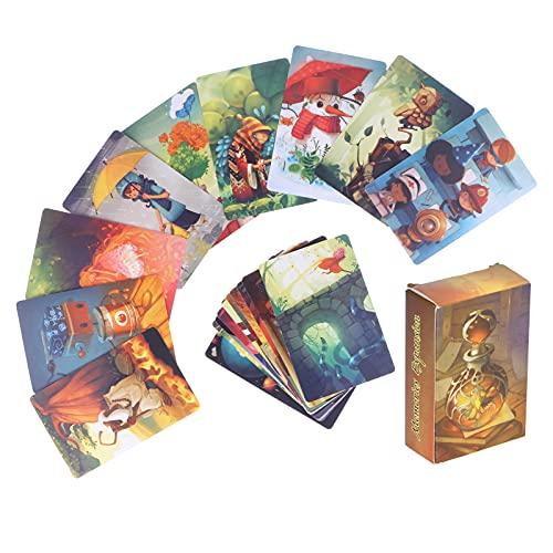 Cryfokt Único Juego De Cartas del Tarot, Escritorio Interactivo Baraja De Cartas del Tarot con 84 Patrones Diferentes, Fiesta Familiar Juego Multijugador para La Reunión De Amigos Jugando