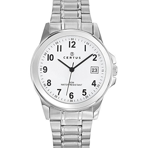 Certus analoog uniseks horloge met armband van roestvrij staal 616217