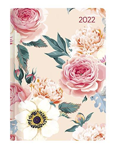 Alpha Edition - Agenda Giornaliera Style 2022, 10,7x15,2 cm, Rose, 352 pagine