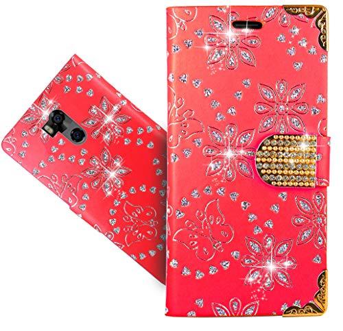 Ulefone Power 5 Handy Tasche, HülleExpert® Wallet Hülle Cover Flower Bling Diamond Hüllen Etui Hülle Ledertasche Lederhülle Schutzhülle Für Ulefone Power 5