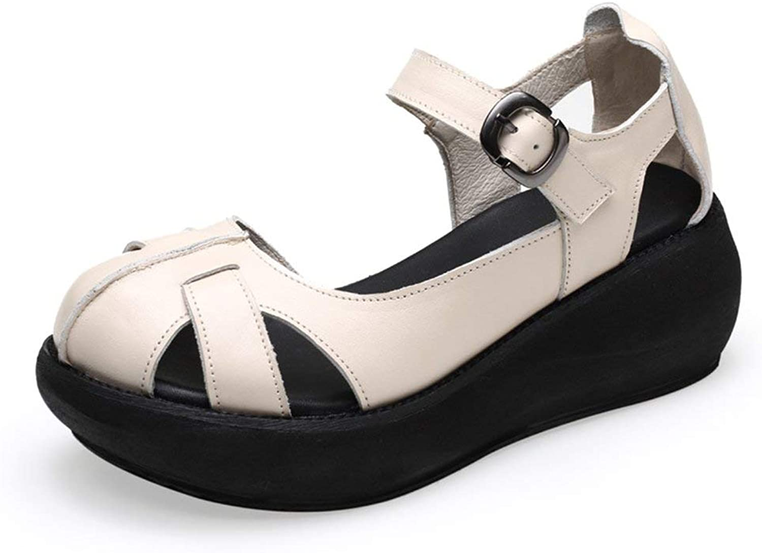 Comfortable and beautiful ladies sandals Sandals Female Off White Polyurethane Materials High Heel Single shoes