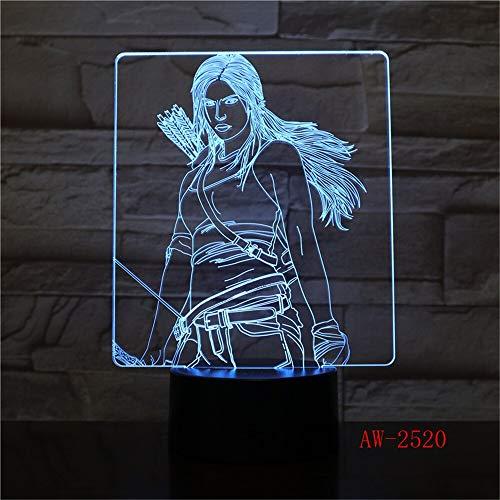 Wonder Diana 3D Lampada da notte a LED Lampada per decorazione Camera da letto Colore della luce Ragazzo Ragazzo Ragazza Regalo RC