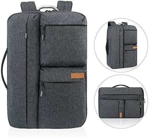 Zaino REYLEO da uomo, Zaino sportivo da uomo per laptop da 15.6 pollici con scomparto interno e borsa espandibile moda impermeabile-grigio RB29