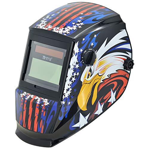 Antra True Color Wide Shade Range 4/5-13 Auto Darkening Welding Helmet AH6-260-6217 Engineered for TIG MIG/MAG MMA Plasma Grinding, Solar-Lithium Dual Power, 6+1 Extra Lens Covers