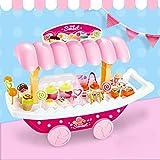 Pretend Play Play Toy Kitchen Set, Gelato Cake Candy Boat Toddler Girl Toys Giocattoli Simulazione Cucina Tableware Carrello con Luce E Musica Casa Accessori