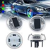 Car Tire Wheel Lights,4PCS Solar Energy Car Wheel Hub Lamp Hot Wheel Lights with Motion Sensors