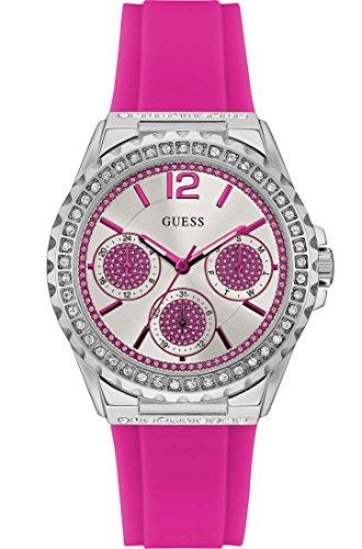 Guess Damen Multi Zifferblatt Quarz Uhr mit Silikon Armband W0846L2