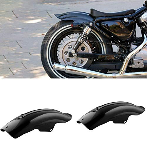 SXGKY Fender Motocicleta de la Motocicleta Negro Volver Defensa de los Guardabarros Trasero de Accesorios de Accesorios de Motos Piezas Marcos unión Universal Guardabarros de Moto FFFF