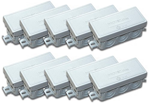 Protec.class 4389 Lot de 10 boîtes de dérivation FR-Gris
