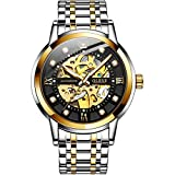 OLEVS Automatic Analogue Men's Luxury Watch (Black & Gold Dial)