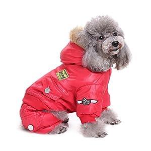 Jannyshop Manteau de Chien Manteau à Capuche pour Animaux Vêtement de l'USA Armée d'Air Manteau à Quatre Pattes pour Animaux de Compagnie
