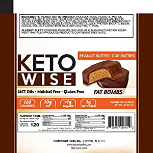 Keto Wise Fat Bombs - Peanut Butter Cup Patties - 16 Packs 34g Each