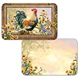 Counterart Reversible Set of 4 Wipe Clean Placemats Country Charm Rooster