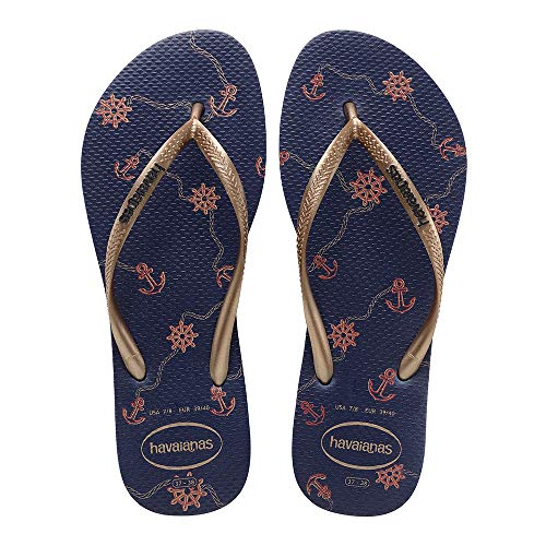 Havaianas Slim Nautical, Tongs Femme, Multicolore (Navy...