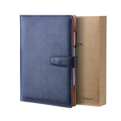 A5 Libreta de Cuero, CHIDUAN Cuaderno de Negocios...