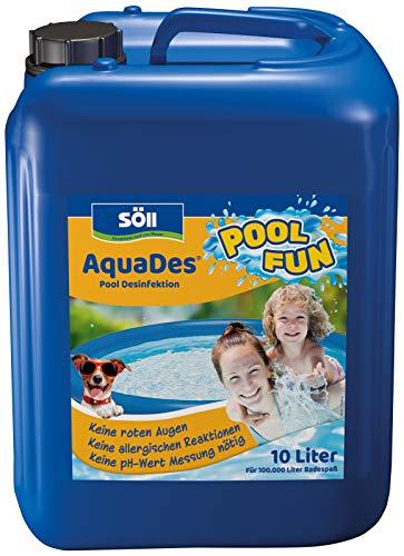 Söll 10343 AquaDes Pool-Desinfektion flüssig 10 l - wirksame Poolreinigung Wasserpflege gegen Bakterien und Keime zur Desinfektion von Pool Whirlpool Kinderplanschbecken Swimmingpool Schwimmbecken