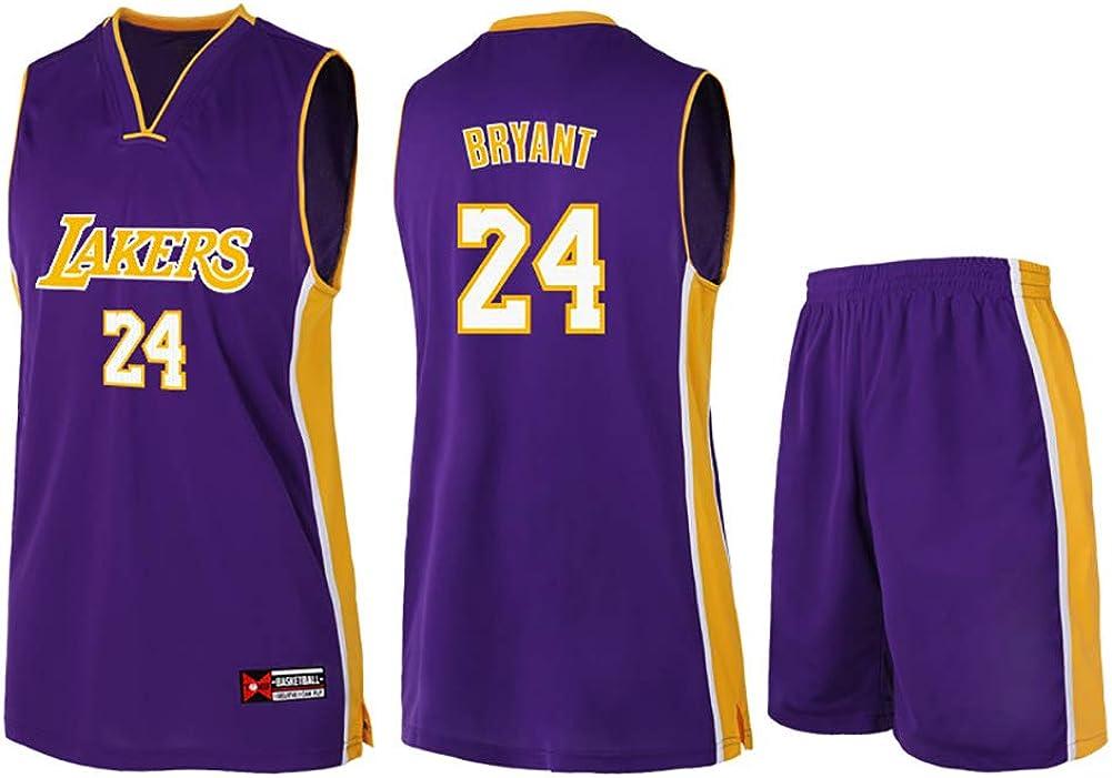 100/% poli/éster XYFF Camiseta de Baloncesto para Hombre-Kobe Bryant- Jersey de Los Angeles Lakers # 24 Jersey de Baloncesto Bordado de Malla Bordada The New