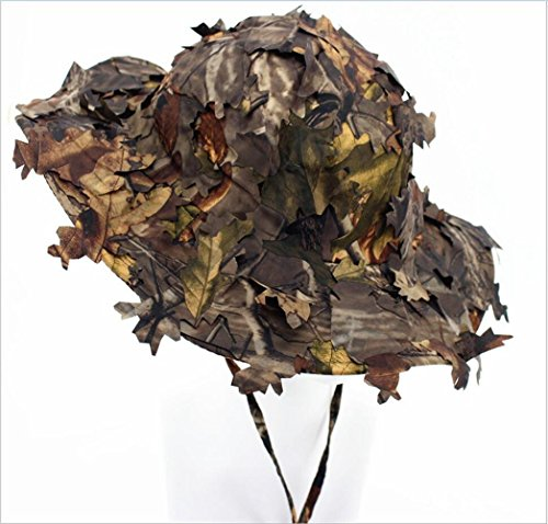 Wildoor Boonie Hats for Men 3D Leaves Camo Tactical Cap for Hunting Fishing Sunshade