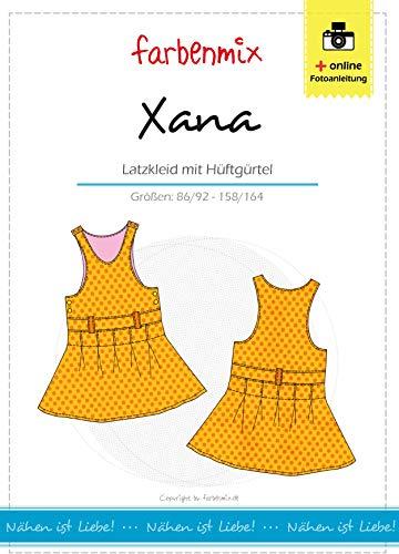 Farbenmix Xana Schnittmuster (Papierschnittmuster für die Größen 86/92-158/164) Latzrock