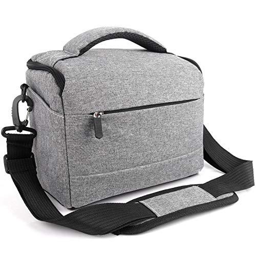 Yi-xir Bolsa de hombro de poliéster para cámara de moda, ligera, resistente y duradera (color: gris, tamaño: A)
