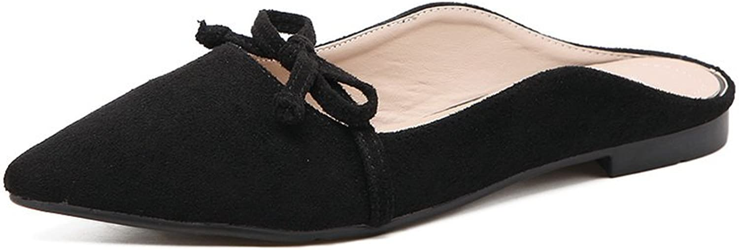 Ladola Womens Bows Suede Flats shoes