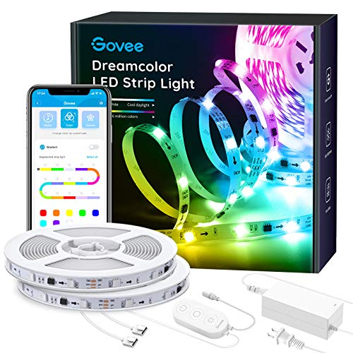 Govee 32.8Ft LED Strip Lights RGBIC App Control, Light Strip with Segmented Color Control Smart Color Picking, Dreamcolor Music Sync Led Lights for Room, Bedroom, Kitchen, Christmas Decor