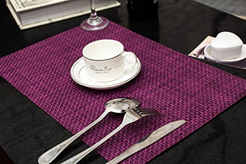 Clest F&H Tischset Platzset 5-5 lila Platzmatte gewebt aus Kunststoff 45x30 cm(2er Set)