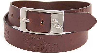 NCAA Mississippi Old Miss Rebels Light Crazy Horse Leather Concho Belt