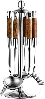Kitchen Spatula 6 حزمة ملعقة - أواني المطبخ الفولاذ المقاوم للصدأ مجموعة ستة قطع من ملعقة تجهيزات المطابخ المضادة للطبخ غي...