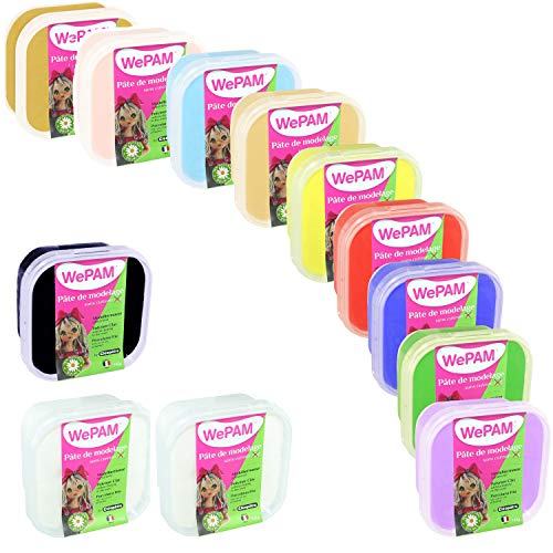 Cléopâtre WEPAM12 Porcelaine Froide WePAM, Couleurs Assorties, 12 x 145g