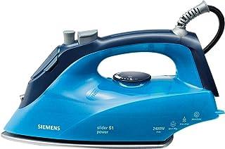 Siemens TB26300GB Steam Iron Titanium Base Plate 2100 W, Blue, 1 Year Warranty