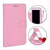 PH26® Gold Polka Dot Folio Case for oukitel K4000 Lite
