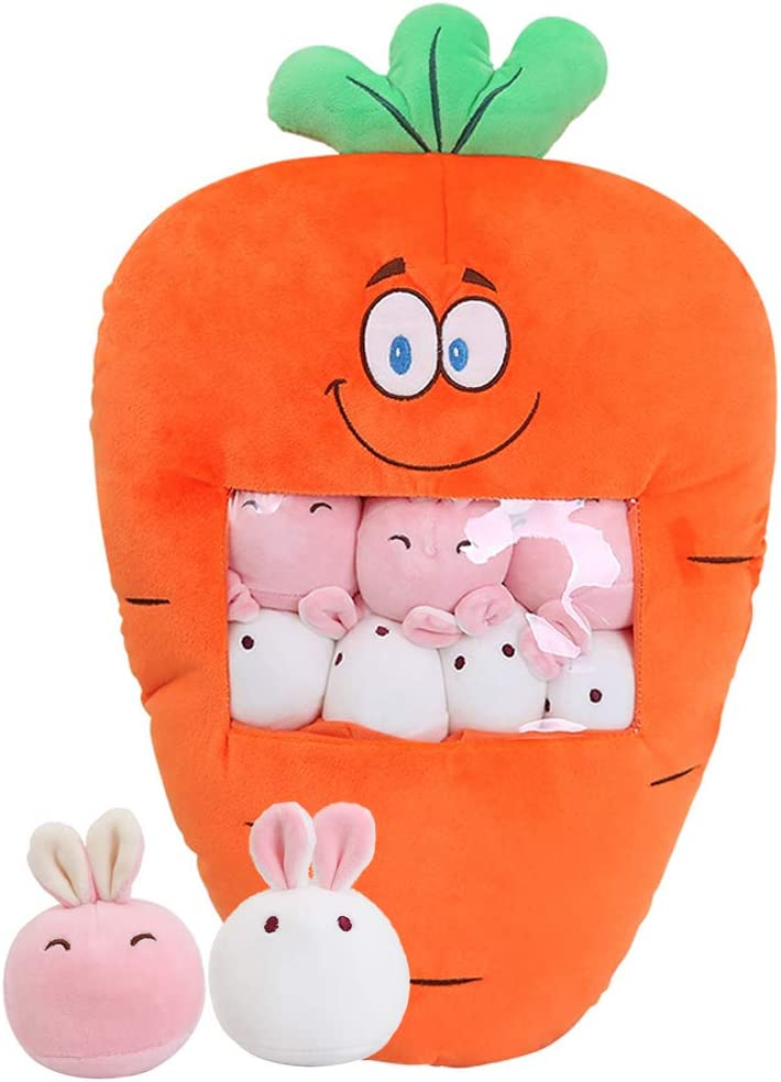 Halloween Christmas Decorative Doll Toy Gift Throw Pillow Fruit Stuffed Toys Strawberry Plush Pillow Removable Fluffy Creative Gifts for Kids