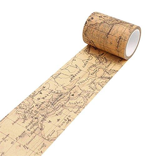 Bismarckbeer Adhésif Autocollant pour Scrapbook, ruban adhésif de masquage de papier DIY vintage washi. Taille unique motif carte du monde