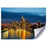 Feeby Poster Kunstdruck Frankfurt am Main Moderne