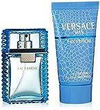Versace Man Eau Fraiche 30ml Eau de Toilette Plus 50ml Gel de Ducha Set de regalo para él, 1er Pack (1x 30ml)