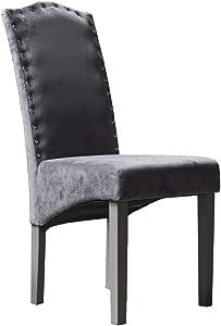 Juego de 2 sillas de Comedor de Terciopelo de Calidad Knockerback – Comedor, Cocina, sillas 2