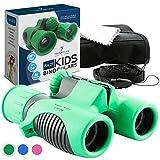 Binoculars for Kids High Resolution 8x21 - Green Compact High...