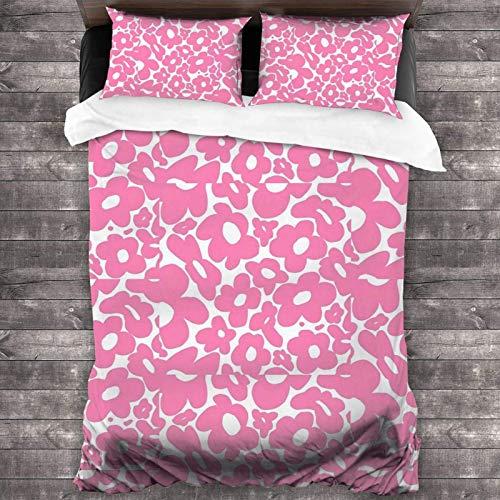 Golf Le Fleur - Juego de cama de 3 piezas con diseño de flores de Tyler The Creator de 86 x 70 pulgadas, funda de edredón súper suave y cálida, juego de cama Queen con 2 fundas de almohada
