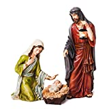 3-Piece Mary, Joseph and Baby Jesus Nativity Outdoor Safe Garden Set